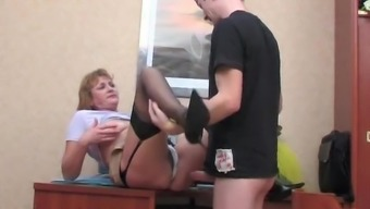 son Gets Aroused Looking Up mother's Skirt