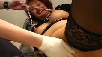 Chubby submissive worn down by BDSM
