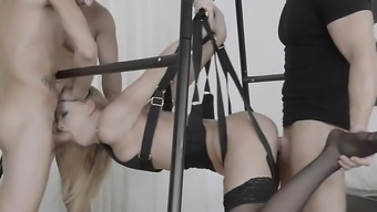 Secretary Lucy Heart Gets Banged In A Sex Swing