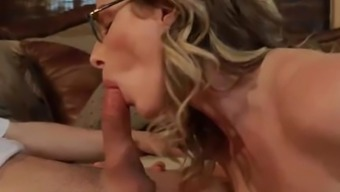 Fake Step Mom Cory Chase likes my young cock