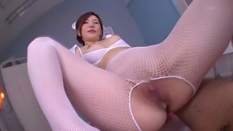 nasty nurse yuria satomi spreads her legs for a lucky hunk