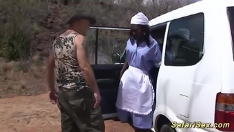 Crazy sex with a hot chocolade babe at my wild african jeep porn safari