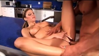 Small tits Gianna Michaels spreading legs having her pussy licked
