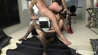 rough threesome with lustful hungarian bitches mira sunset & lien parker