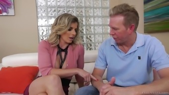 Stunning beauty Cory Chase offers her body to a fellow for a shag