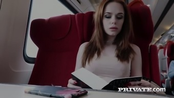 Responsible redhead secretary Ella Hughes gets her pussy creampied