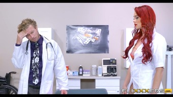 Doctor and Redhead Nurse