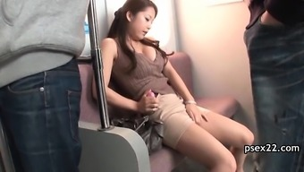 Public bus pussy fingering