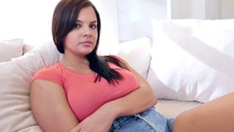 Busty Babysitter fucks mama's boy to keep the job