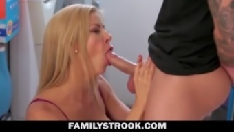 Big Tit Milf Horny For Step-Son