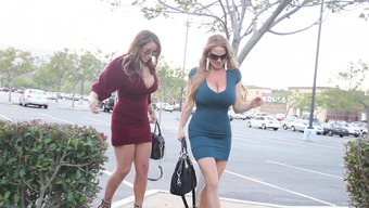 Tight cocktail dresses on these huge tits fuck sluts