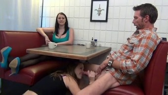 NOT DAUGHTER MAKESDAD CUM IN FRONT OF MUM WITH FOOTJOB