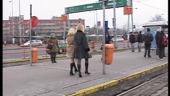 2 kinky blondes girls risky pissing on real public streets