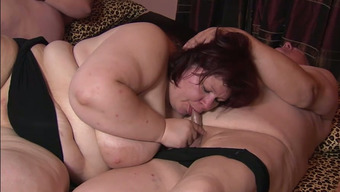 Ugly as hell chubby bitches suck strong big cocks at the swinger party