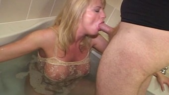 Blond interracial cock craving MILF