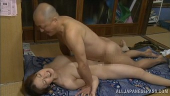 Japanese wife moans loudly while getting her snatch pounded hard