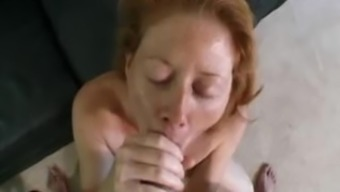 Redhead slut gets fucked from behind and spanked hard
