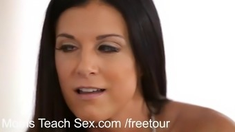 India Summer joins a young couple for a hardcore threesome
