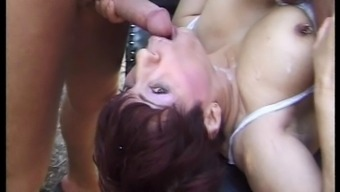 FRENCH GRANNY FUCKED BY TWO BIG DICKS - DOUBLE PENETRATION