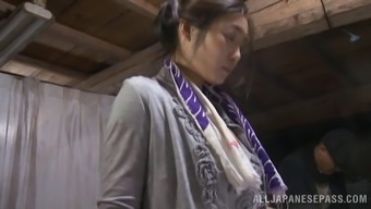 Hardcore reality clip with Japanese hussy enjoying rear banging