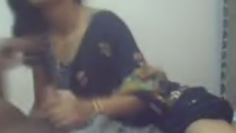 Playful Indian woman exposes her titties on webcam