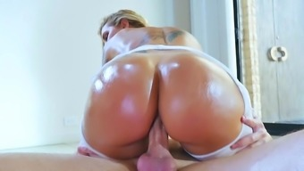 Perfect blonde fucked in POV style and made to swallow