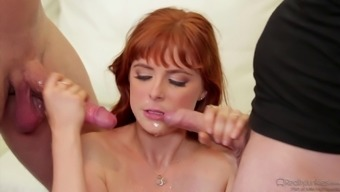 Guy shares his hot redheaded wife with his best friend