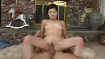 Beautiful Asian  Gets Fucked by a White Cock BWC Interracial