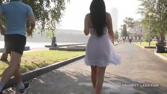 Transparent dress in public