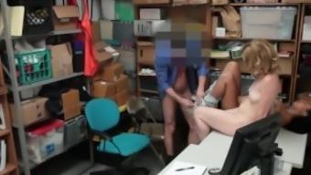 Young dolls Bonnie Grey and Maya Bijou get blackmailed into threesome sex