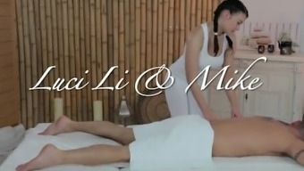 massage-turns-into-riding-lesson Luci Li