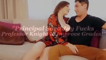 Busty Principal Sara Jay disciplines one of her teachers with a fuck!