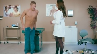 Ariella Ferrera is a big breasted doctor who loves riding a dick