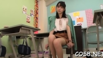Needy japanese teen gets whole rod in vagina during cosplay