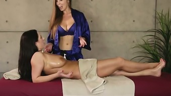Buxom gal Lena Paul wants to be intimate with her client's divine pussy