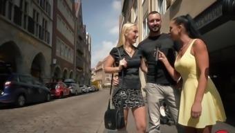 Hot German blonde MILF fucked outside