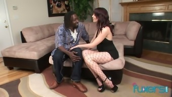 Well endowed mandingo fucks pierced pussy and tight anus of one naughty milf
