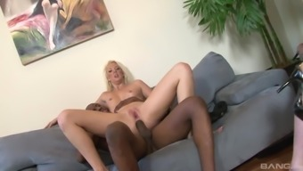 Interracial foursome with salacious cock-hungry Courtney Taylor