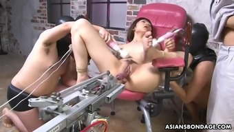 fragile japanese shiori natsumi is tormented by fucking machine