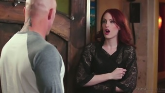 Red haired seductress Alex Harper is pleasing her regular client
