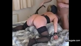 Ann 44 tied and thoroughly penetrated