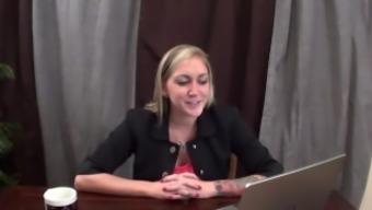 MILF Nikkie tickles Tay during news