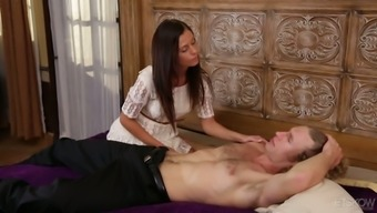 Too naughty American GF Whitney Westgate wakes dude up to ride his dick