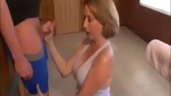 Mom helps son