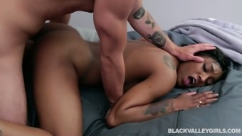 Black chick Sizi Sev is having dirty sex with one white guy