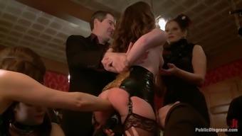 Bitch fisted in kinky bondage scene