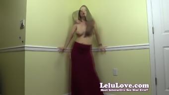 Lelu Love-Topless Dancing In Long Hips Hugging Skirt