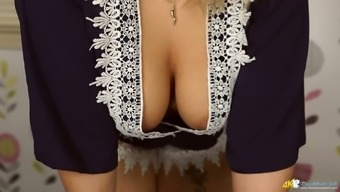 Fantastic big breasted blonde sexpot Ashley Rider and her awesome cleverage