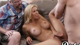 Smoking hot Alexis Fawx makes her hubby a jealous cuckold