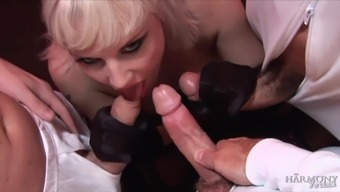 Nasty Alexandra Cat needs more than one dude for the orgasm